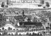 Ausschnitt eines historischen Stiches der Hofmark Gern